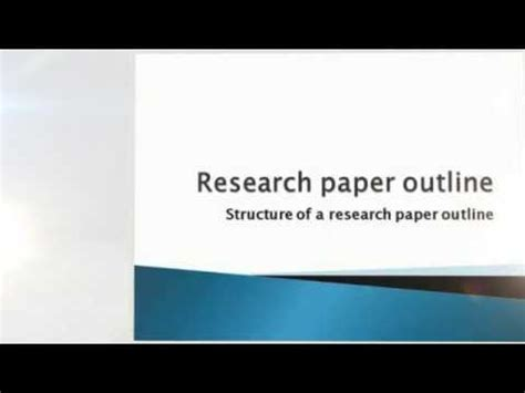 College Research Paper Outline Pictures HD SimKoz